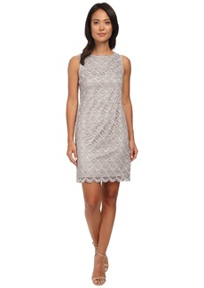 Vince Camuto Sleeveless Metallic Lace Shift Dress