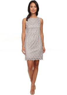 Vince Camuto Sleeveless Metallic Lace Shift Dress