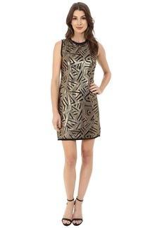 Vince Camuto Sleeveless Micro Sequin Sheath Dress