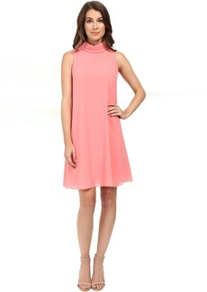 Sleeveless Mock Neck Flyaway w/ Fitted Under Dress