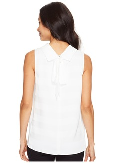 Vince Camuto Sleeveless Mock Neck Shadow Stripe Blouse