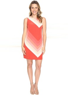 Vince Camuto Sleeveless Modern Bands Shift Dress