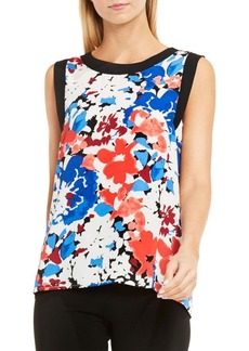 Vince Camuto Sleeveless Nautical Blooms Blouse