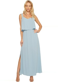 Vince Camuto Sleeveless Pop Over Maxi Dress w/ Side Slits