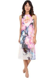 Vince Camuto Sleeveless Printed Chiffon Midi Dress