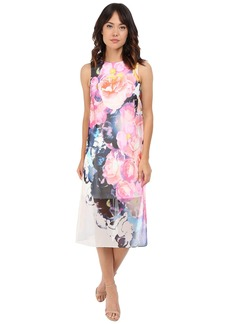 Vince Camuto Sleeveless Printed Chiffon Midi Dress