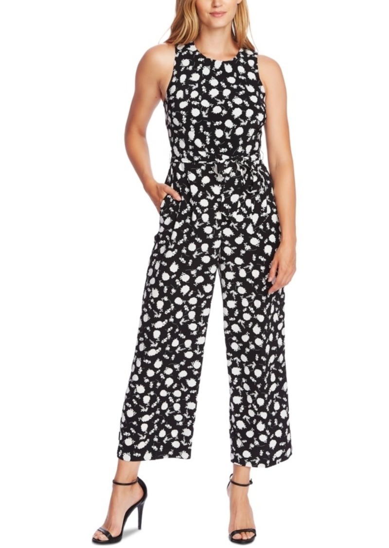 Vince Camuto Sleeveless Printed Cropped Jumpsuit