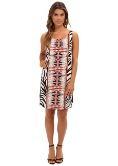 Vince Camuto Sleeveless Printed Tank Shift Dress