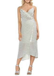 Vince Camuto Sleeveless Printed Wrap Dress