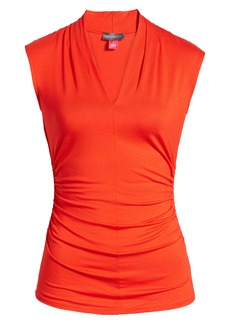 Vince Camuto Sleeveless Ruched Top