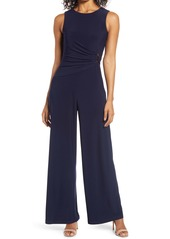 Vince Camuto Sleeveless Ruched Waist Jumpsuit