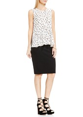 Vince Camuto Sleeveless Ruffle Front Top