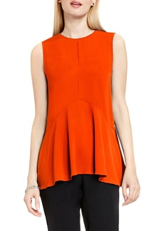 Vince Camuto Sleeveless Ruffle Front Top (Petite)