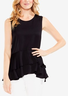 Vince Camuto Sleeveless Ruffled Peplum Top