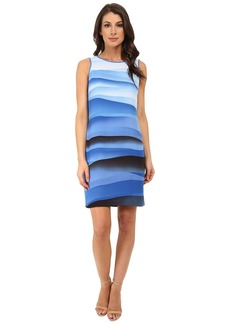 Vince Camuto Sleeveless Scenic Wave Shift Dress
