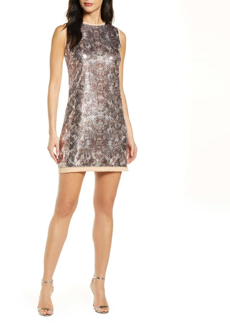 Vince Camuto Sleeveless Sequin Sheath Dress
