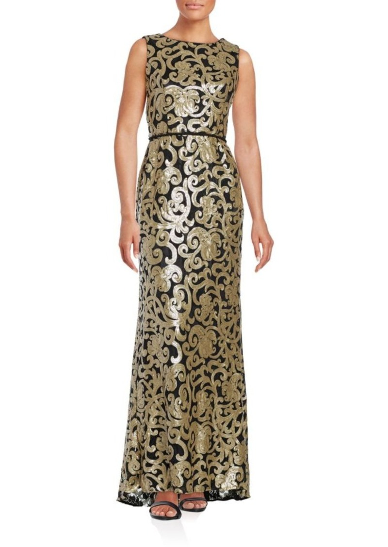 Vince Camuto Vince Camuto Sleeveless Sequined Gown | Dresses
