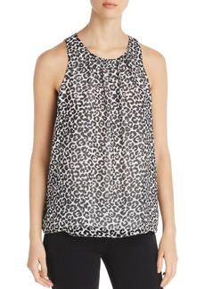 VINCE CAMUTO Sleeveless Snow-Leopard-Print Top