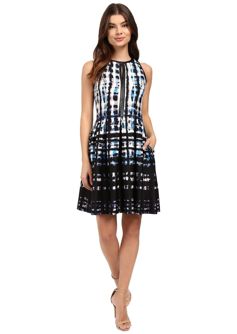 Vince Camuto Sleeveless Split-Neck Fit and Flare