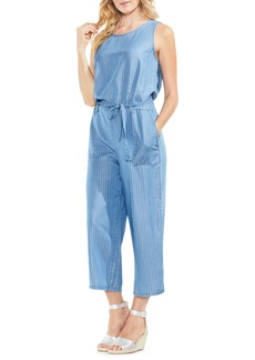Vince Camuto Sleeveless Stripe Belted Jumpsuit