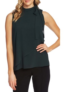 Vince Camuto Sleeveless Tie Neck Top