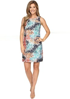 Sleeveless Tropical Mystique Printed Lace Dress