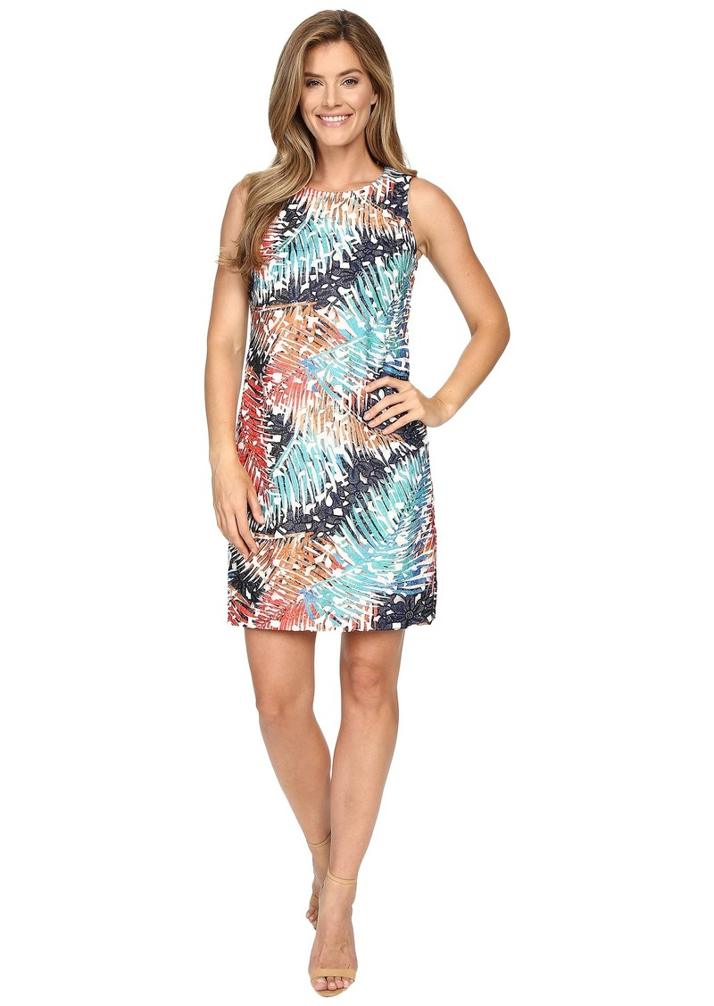 Vince Camuto Sleeveless Tropical Mystique Printed Lace Dress
