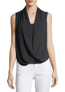 Vince Camuto Sleeveless Wrap-Front Shirt