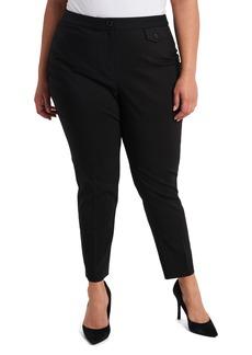 Vince Camuto Slim Cotton Blend Double Weave Pants (Plus Size)