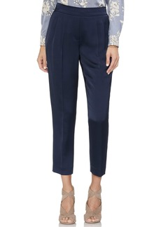 Vince Camuto Slim Leg Front Pleat Satin Pants