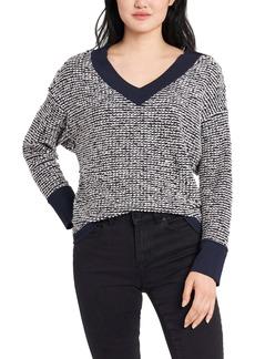 Vince Camuto Slub Rib Off-the-Shoulder Cotton Blend Sweater