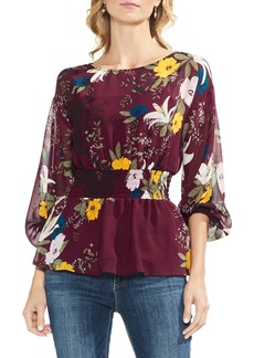 Vince Camuto Smock Detail Balloon Sleeve Blouse
