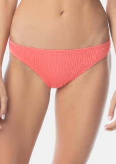 Vince Camuto Smocked Classic Bikini Bottoms Women's Swimsuit