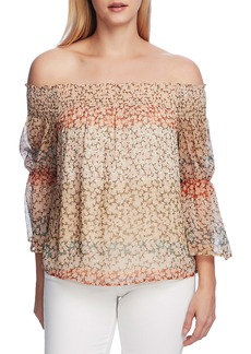 Vince Camuto Smocked Off-the-Shoulder Ditsy Blouse