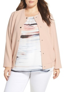 Vince Camuto Snap Front Bomber Jacket (Plus Size)
