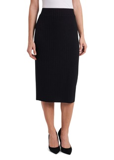 Vince Camuto Solid Ribbed Pull-On Skirt