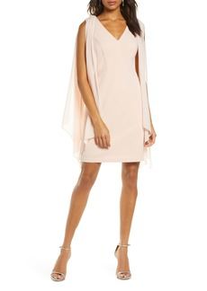 Vince Camuto Souffle Cape Sleeve Cocktail Dress