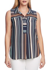 Vince Camuto Southwestern Stripe Sleeveless Top