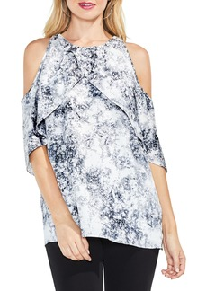 Vince Camuto Speckle Atmosphere Cold Shoulder Top