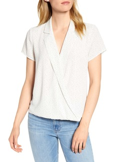 Vince Camuto Speckle Dot Wrap Top