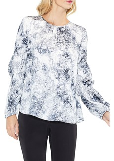 Vince Camuto Speckled Cinch Sleeve Top