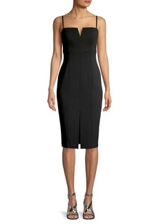 Vince Camuto Split Neck Sheath Dress
