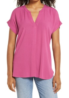 Vince Camuto Split Neck Top (Regular & Petite)