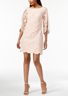 Vince Camuto Split-Sleeve Floral Lace Dress