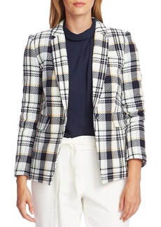 Vince Camuto Spring Plaid One-Button Blazer