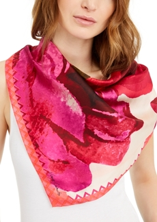 Vince Camuto Spring Roses Silk Bandana Square Scarf