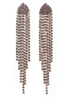 Vince Camuto Staggered Cupchain Fringe Earrings