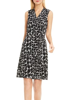 Vince Camuto Stamp Print Jersey Wrap Dress