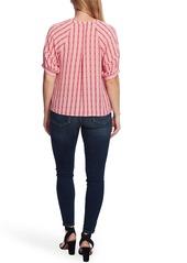 Vince Camuto Starburst Stripe Short Sleeve Blouse