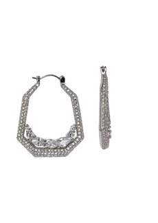 Vince Camuto Statement Silvertone & Crystal Pavé Hoop Earrings